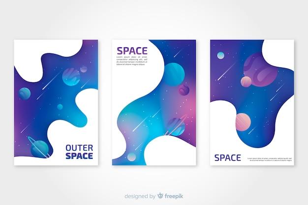 Coleção de capa de espaço exterior Vetor grátis