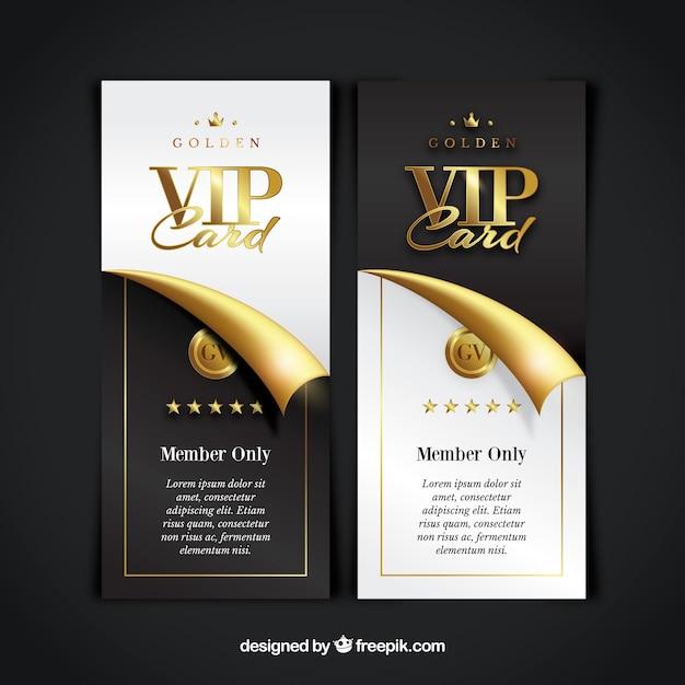 Coleção de cartão vip vip Vetor grátis