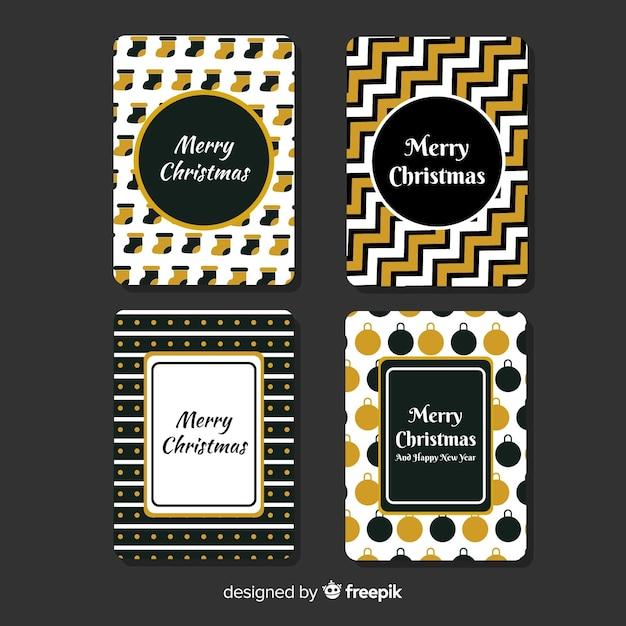 Coleção de cartões de natal Vetor grátis