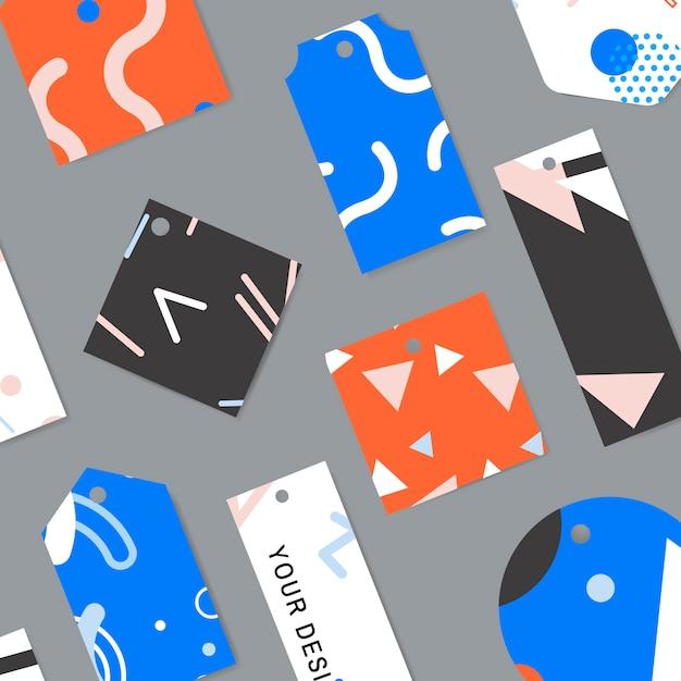 Coleção de cartões padrão de memphis Vetor grátis