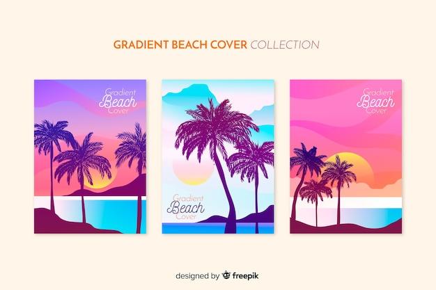 Coleção de cobertura de praia gradiente Vetor grátis