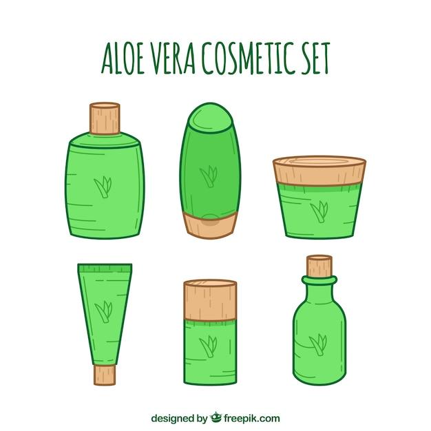 Coleção de cosméticos aloe vera Vetor grátis