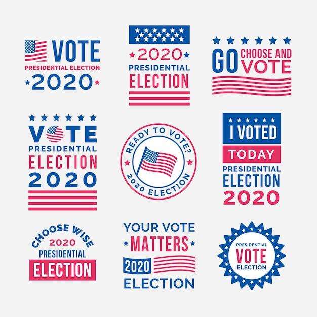 Coleção de crachás de votação Vetor grátis