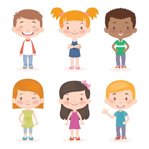 Coleção de crianças Vetor Premium