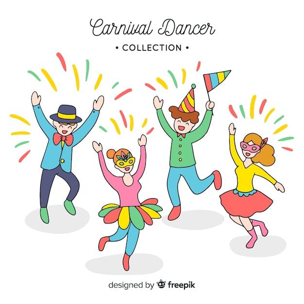 Coleção de dançarina de carnaval Vetor grátis