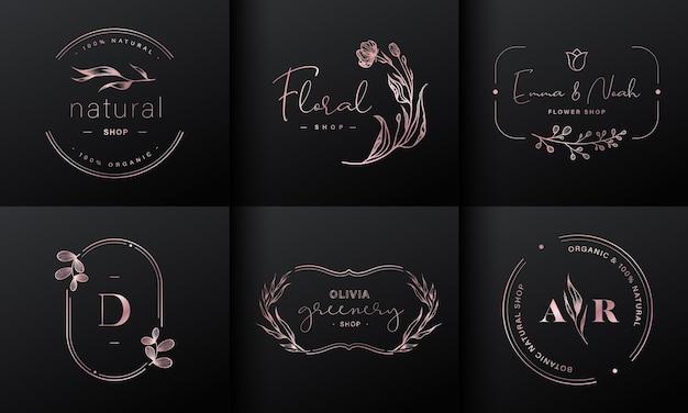 Coleção de design de logotipo de luxo Vetor grátis