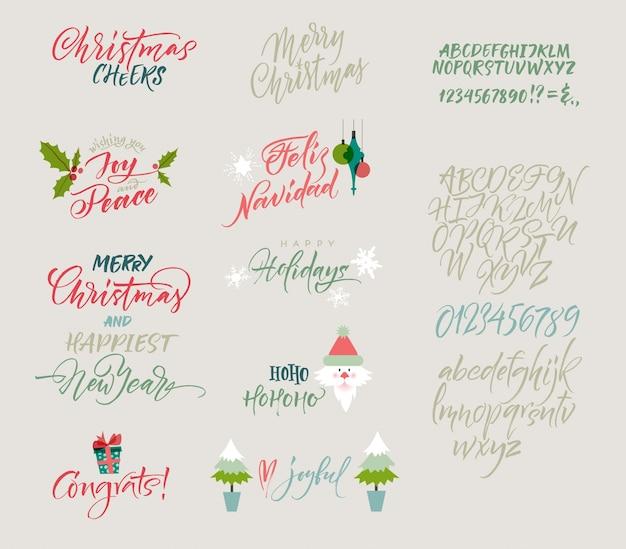 Coleção de design de natal Vetor grátis