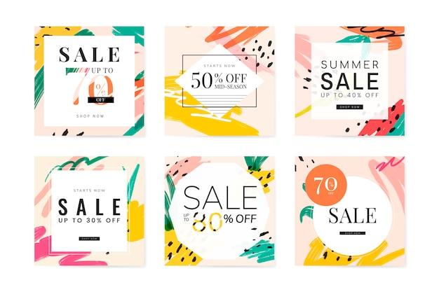 Coleção de design de venda verão memphis Vetor grátis