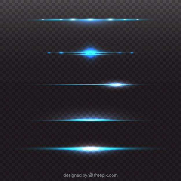 Coleção de divisor de reflexo de lente azul Vetor grátis