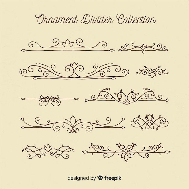Coleção de divisórias de ornamento Vetor grátis