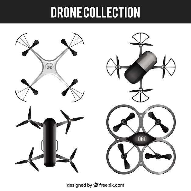 Coleção de drone com estilo realista Vetor grátis