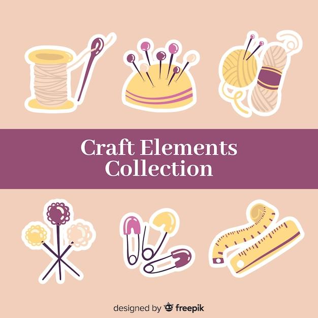 Coleção de elementos de artesanato Vetor grátis