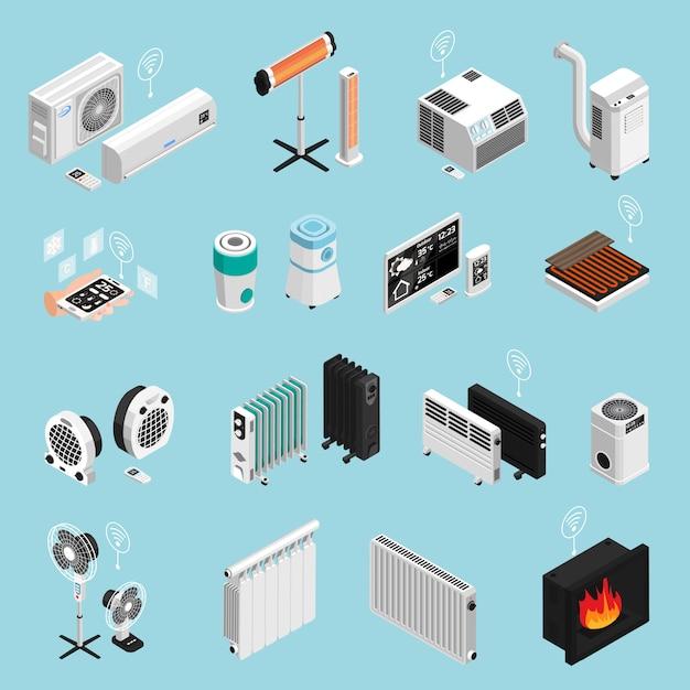 Coleção de elementos de casa inteligente Vetor grátis