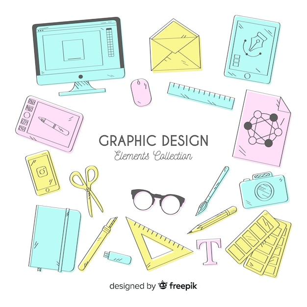 Coleção de elementos de design gráfico Vetor grátis