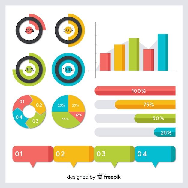 Coleção de elementos de design infográfico Vetor grátis