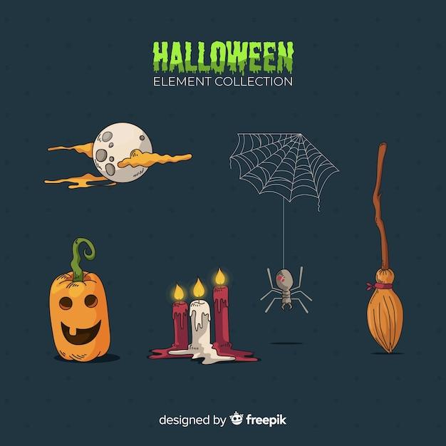 Coleção de elementos de halloween Vetor grátis