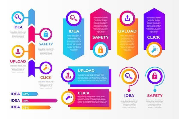 Coleção de elementos de infografia Vetor grátis