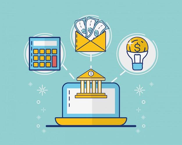 Coleção de elementos de pagamento online Vetor grátis
