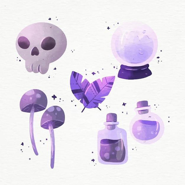 Coleção de elementos esotéricos Vetor grátis