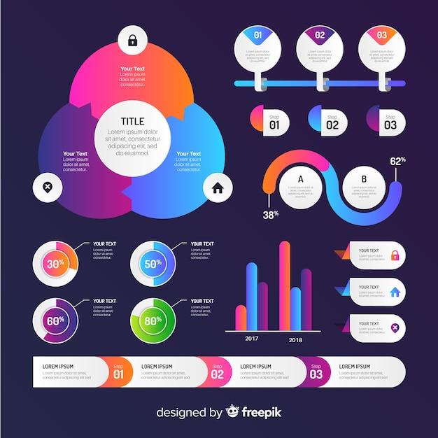 Coleção de elementos infográfico Vetor grátis