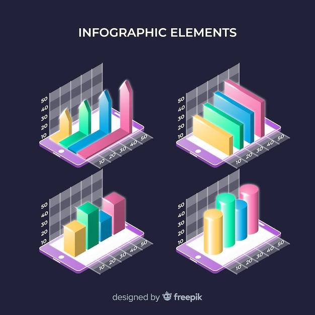 Coleção de elementos infográficos Vetor grátis
