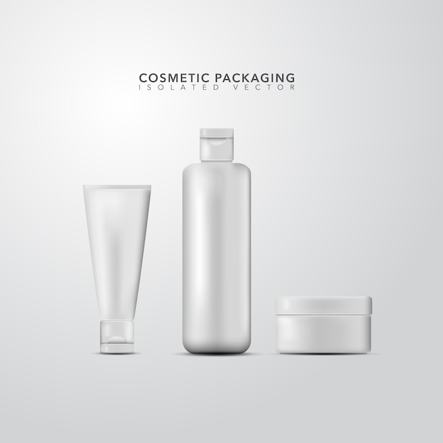 Coleção de embalagens cosméticas Vetor Premium