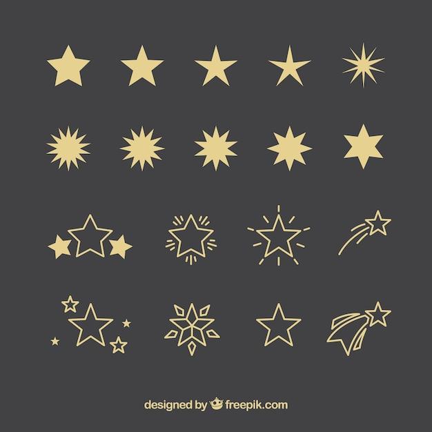 Coleção de estrelas Vetor Premium