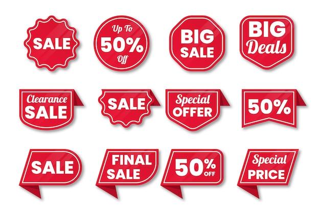 Coleção de etiqueta de vendas Vetor grátis