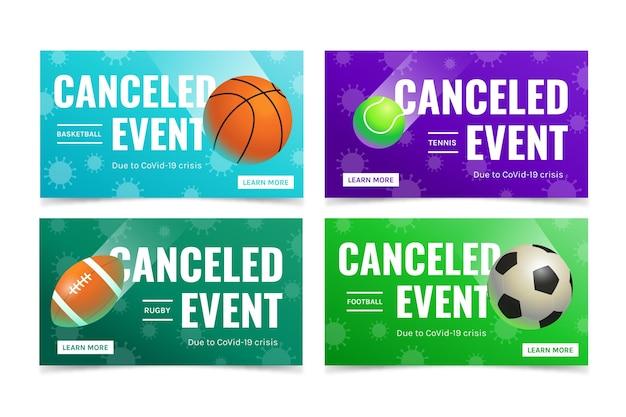 Coleção de eventos esportivos cancelados Vetor grátis