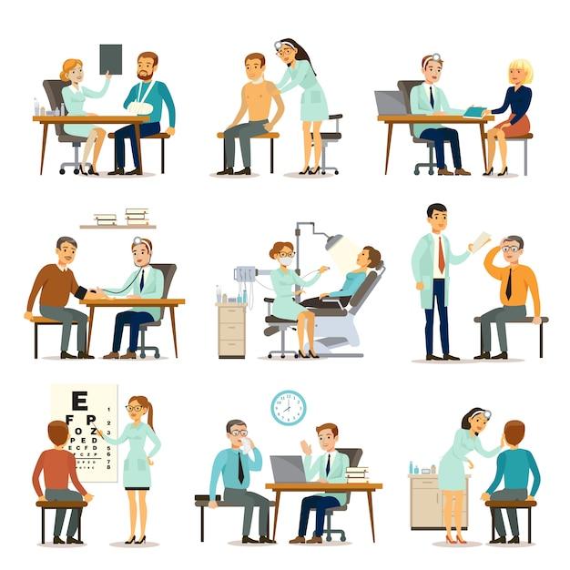 Coleção de exames médicos Vetor grátis