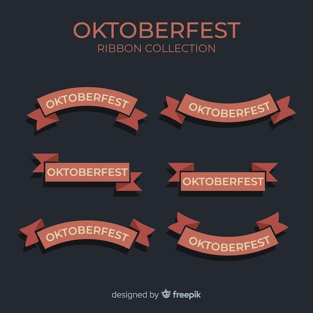 Coleção de fita de oktoberfest design plano Vetor grátis