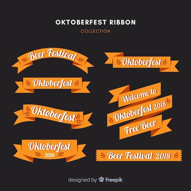 Coleção de fita moderna oktoberfest Vetor grátis