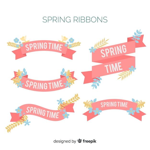 Coleção de fita primavera Vetor grátis