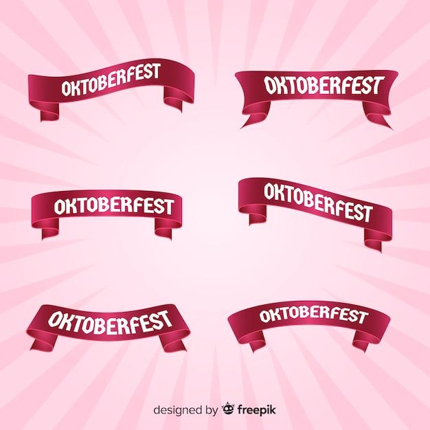 Coleção de fita rosa oktoberfest Vetor grátis