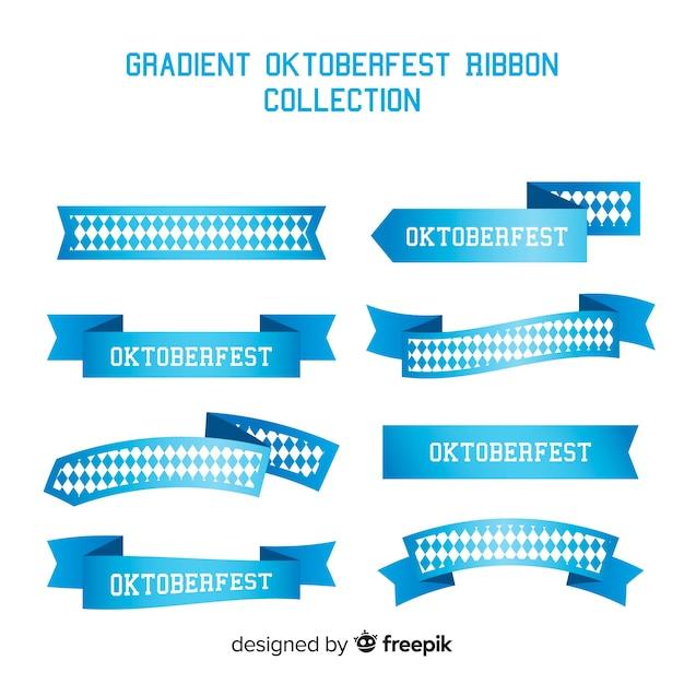 Coleção de fitas azuis oktoberfest Vetor grátis