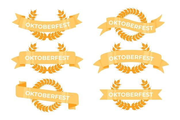 Coleção de fitas de oktoberfest design plano Vetor grátis