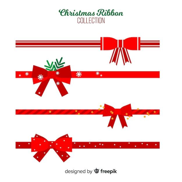 Coleção de fitas planas de natal Vetor grátis