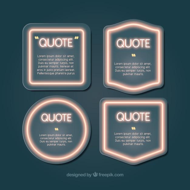 Coleção de frames brilhantes para escrever citações Vetor grátis