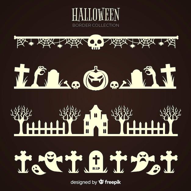 Coleção de fronteira de halloween Vetor grátis