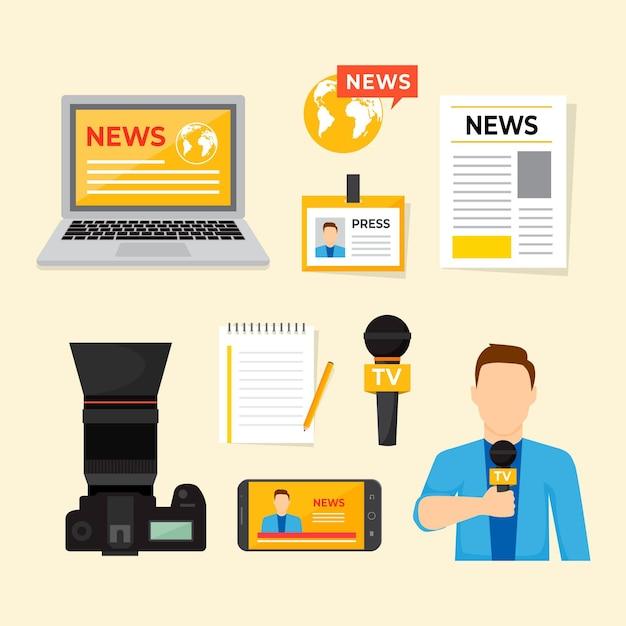 Coleção de fundamentos para jornalistas Vetor grátis