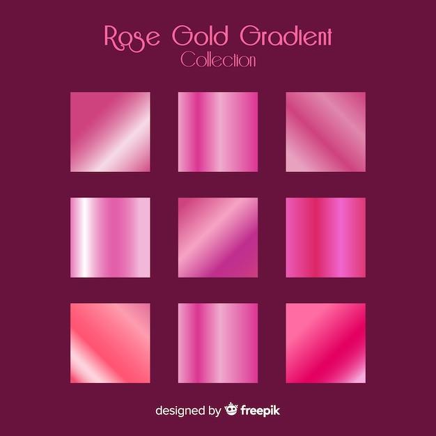 Coleção de gradiente de ouro rosa Vetor grátis