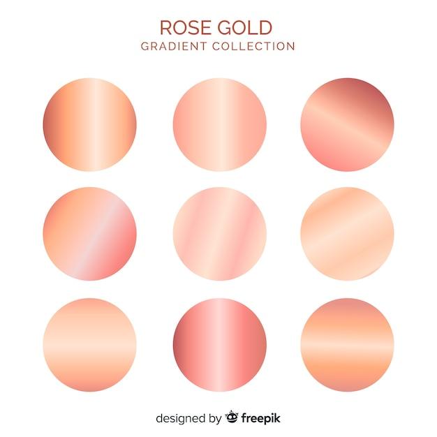 Coleção de gradiente de ouro rosa Vetor Premium