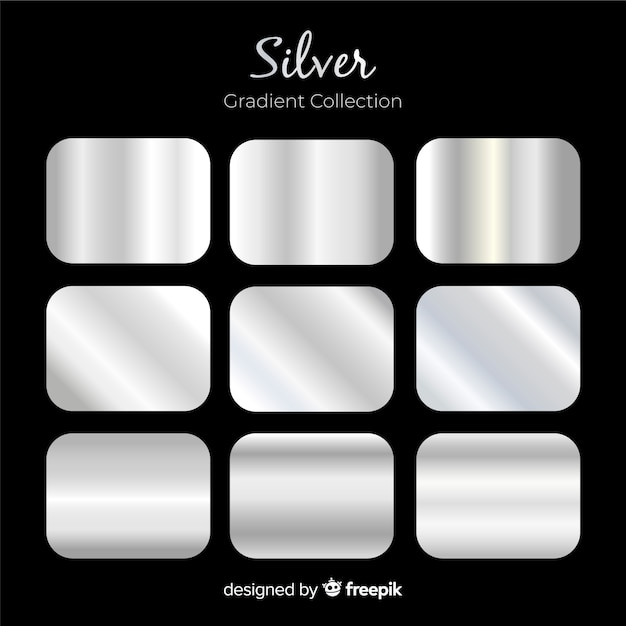 Coleção de gradiente de prata Vetor grátis