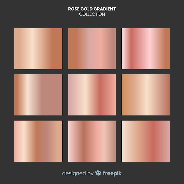 Coleção de gradiente ouro rosa brilhante Vetor grátis