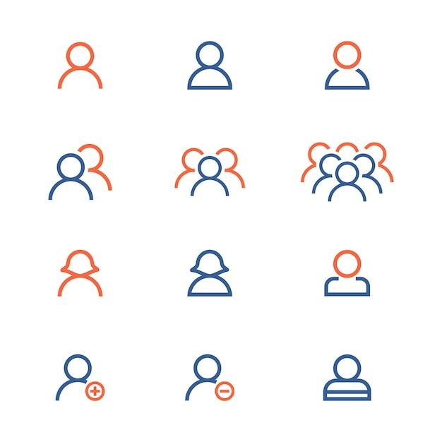 Coleção de ícones de pessoas Vetor grátis
