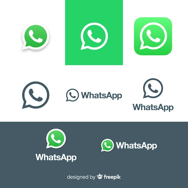Coleção de ícones do whatsapp Vetor grátis
