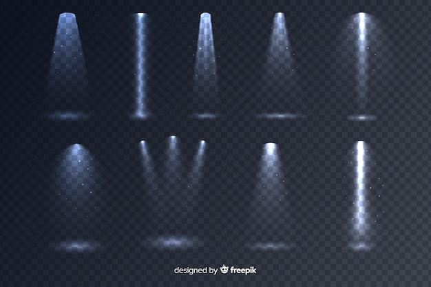 Coleção de iluminação de cena realista Vetor grátis