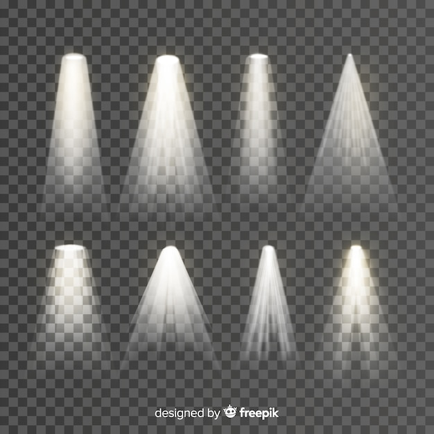 Coleção de iluminação de cena Vetor grátis