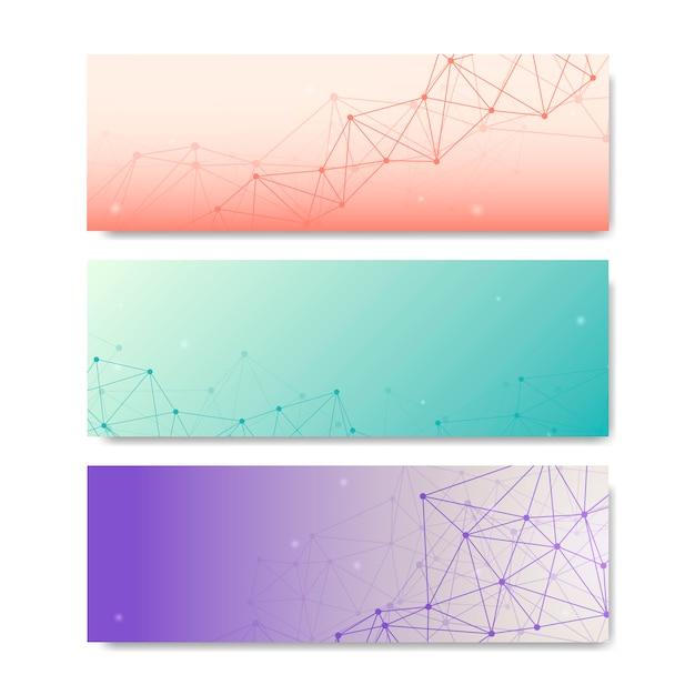 Coleção de ilustração de rede neural Vetor grátis
