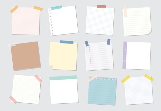 Coleção de ilustrações de nota auto-adesiva Vetor grátis